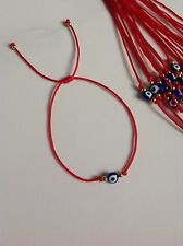 Evil Eye Blue String Kabbalah Bracelet Goldtone Bead Good Luck Charm Protection