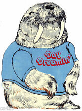 """8"""" SHIRT TALES BEARS DAY DREAMIN' WALRUS  CHARACTER FABRIC APPLIQUE IRON ON"""