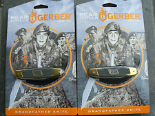 2Pcs Gerber Bear Grylls Grandfather knife Tools For Father's Day Christmas Gift