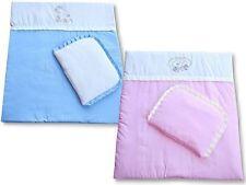 Decke + Kissen / Kinderwagenset Baumwolle Top Qualität!