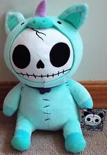 Furrybones Blue Unicorn Cute Skeleton Monster Plush Doll Toy Collectible NWT!