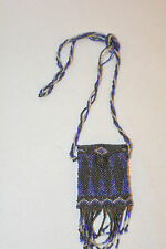 Vintage Navajo Micro bead Belt coin purse with tassles