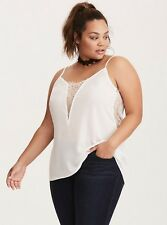 Torrid Ivory Lace Inset Came Top 5x