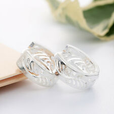 Charming Jewelry Women 925 Silver Ear Stud Huggie Earrings Wedding Jewelry New
