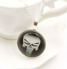 Marvel Hero The Punisher Skull Chain Necklaces & Pendant Charm  DD + 281