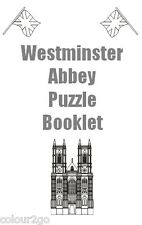 Westminster Abbey Activity Puzzle Book ~ Educational History Xmas Birthday Gift