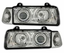 CHROME LOOK ANGEL EYE HEADLIGHTS HEADLAMPS BMW E36 3 SERIES COUPE & CONVERTIBLE