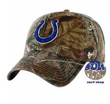 New NFL Indianapolis Colts Camo Clean Up Mens Adjustable Realtree Cap Hat