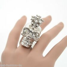 ALEXANDER McQUEEN SKULL PUNK EXPLOSION COCKTAIL RING IT 11 US 5.75 UK L 1/2 BNWT