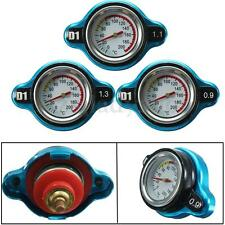 Universal Car Blue Steel Thermo Thermostatic Gauge Radiator Cap 0.9 1.1 1.3 Bar