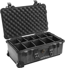 New Black Pelican 1510 Case 1514 with Padded dividers includes Free nameplate