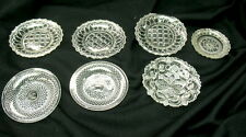 box lot of 7 EAPG victorian cup plates / some chips but 1800s pattern glass