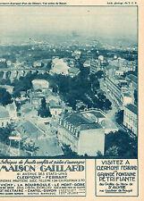 63 CLERMONT FERRAND VUE AERIENNE MAISON GAILLARD PIERRE PRUNIERE PUB 1931 AD