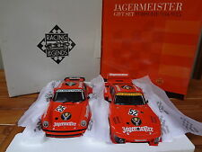 Set 2 PORSCHE 934 RSR + 935 Turbo Jagermeister Orange 1976 - EXOTO 1/18