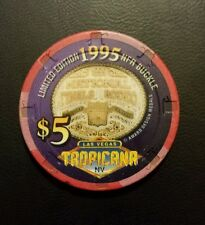 $5 Tropicana Casino chip ~'95 National Finals  Rodeo ~on a 1996 chip~LAS VEGAS