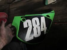 1996 kawasaki kx80 right side cover panel