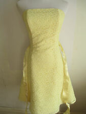 womens yellow dress size 3 - 4 JESSICA McCLINTOCK GUNNE SAX off shoulder mini