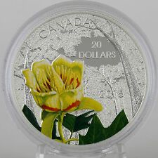 2015 $20 Forests of Canada: Carolinian Tulip-Tree 1 oz 99.99% Pure Silver Proof