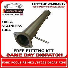 """FORD FOCUS RS MK2 / ST225 Decat pipe T304 Stainless Steel 3"""" inch Bore"""