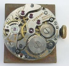 Imperial Watch Co. Wristwatch Movement - Model 14 -  Parts / Repair