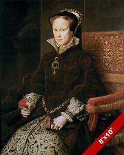 QUEEN OF ENGLAND BLOODY MARY I MARIA TUDOR PORTRAIT CANVAS GICLEE 8X10 ART PRINT