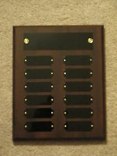 Fantasy Basketball Perpetual Award Plaque 12 Plate, 8x10 Trophy 2 Finishes