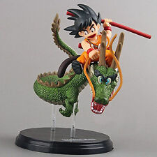 Dragon Ball Z 5'' Figures Saiyan Child Son Goku Ride on Shenron Figure