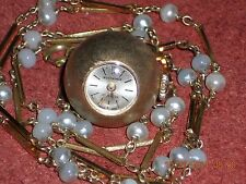 BUCHERER LADIES VINTAGE SWISS ORB WATCH PENDANT 17 JEWELS CLASSIC