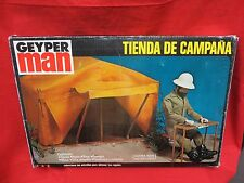VINTAGE GI JOE 1964 : 1975 GEYPER MAN : TIENDA DE CAMPANA - ADVENTURE TEAM MIB