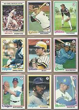 1978 78 Topps YOU PICK SINGLES FROM #1-726 ALL HIGH GRADE NEAR MINT OR BETTER