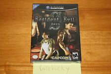 Resident Evil 0 Zero (Gamecube) NEW SEALED BLACK LABEL Y-FOLD, MINT, RARE!