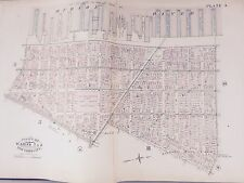 ORIG 1885 ROBINSON ATLAS MAP LOWER MANHATTAN TriBeCa READE-HOUSTON BROADWAY-WEST