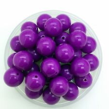 New 50Pcs 8mm Acrylic Round Pearl Spacer Loose Beads DIY Jewelry Making Purple