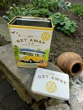 German VOLKSWAGEN CAMPER BUS VW Camper Samba - TIN Lunch BOX - Let's get away !