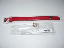 "New COACH Red Leather Bracelet With Anchor On The Snap (Fits Up To 6.5"" Wrist)"