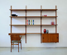 60er Teak REGALSYSTEM Wandregal DANISH 60s SHELVING UNIT wall unit cadovius ära