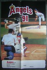 "1991 California Angels 16x24"" Advertising Poster featuring Chuck Finley..."