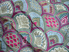 Cotton Fabric Dresses in Scallops Print Boho Fabric Gypsy Fabric