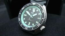 Vintage Seiko divers 7002 Auto MEGA MOD LAGOON BLUE DIAL 150m Watch J24.