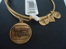 Alex and Ani  COMPLETELY BLESSED  Russian Gold Charm Bangle  W/ Tag Card & Box