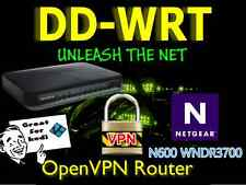 Netgear WNDR3700 N600 OpenVPN Wireless WIFI Cable VPN Router DD-WRT.Anonymous