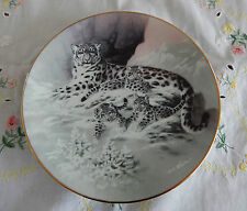 THE SNOW LEOPARD PLATE CHINA'S NATURAL TREAURES 8 1/2""