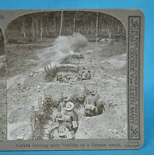 WW1 Stereoview British Indian Army Gurkha Bombing Party Realistic Travels
