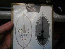 Elle Designer Collection Nearly Black One Size Tights