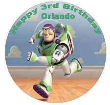 "Toy Story Buzz Lightyear Personalised Cake Topper 7.5"" Edible Wafer Paper"
