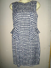 MARKS AND SPENCER LIMITED COLLECTION NAVY & WHITE DRESS SIZE 10