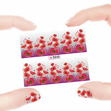 Nail Art Manicure Water Transfer Decal Stickers Flowers Pattern D46