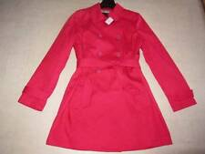 Coach Womens Short Trench Belted Coat SV/Berry F82378 Sz L  - NWT $328