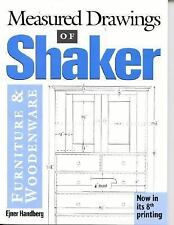 Measured Drawings of Shaker Furniture and Woodenware by Ejner Handberg (1980,...