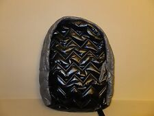 * The Company Store Kids Girls Backpack Back Pack Bag Black Gray Quilted Zig Zag
